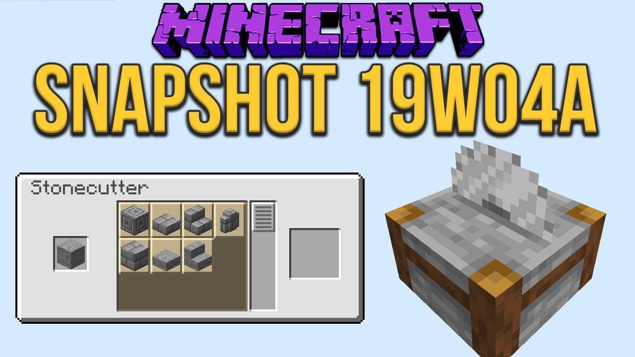 Minecraft 1.14 Snapshot 19w04a
