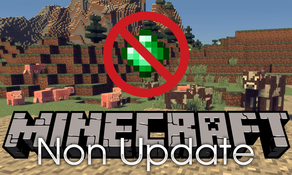 Non Update mod for minecraft logo