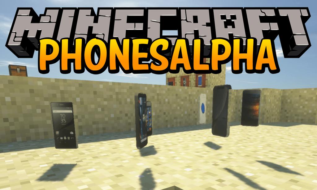 PhonesAlpha mod for minecraft logo