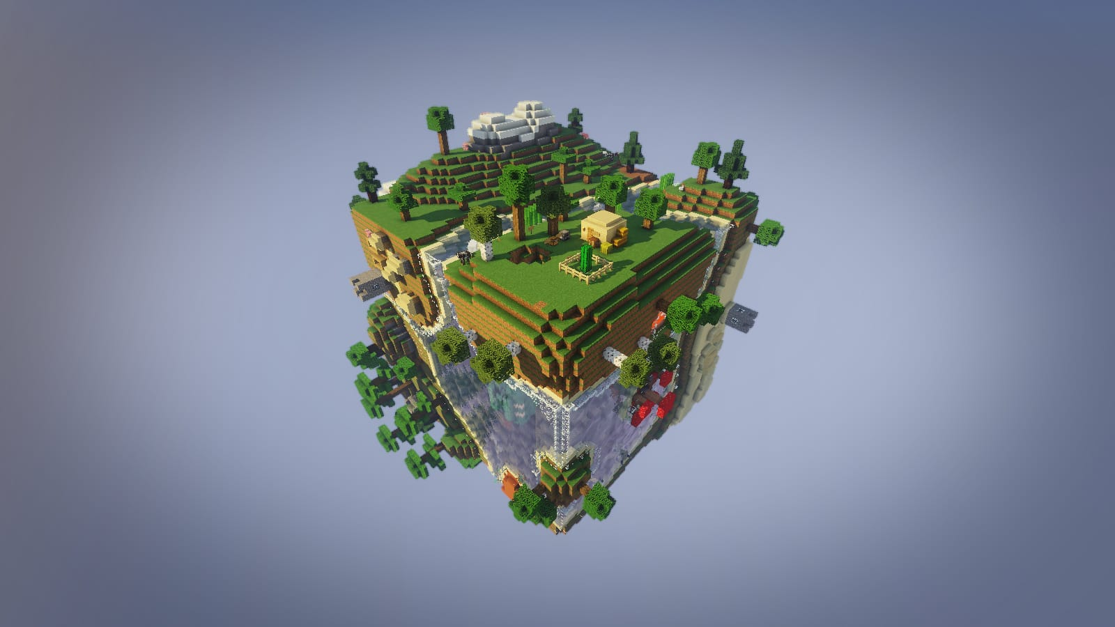 Planet Earth Survival Map 1.13.2 for Minecraft - 9Minecraft.Net