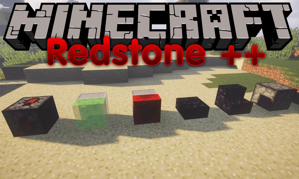 RedstonePlusPlus mod for minecraft logo