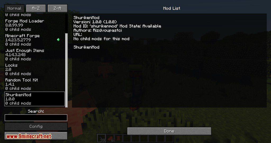 Shuriken mod for minecraft 10
