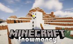 Snowmancy mod for minecraft logo