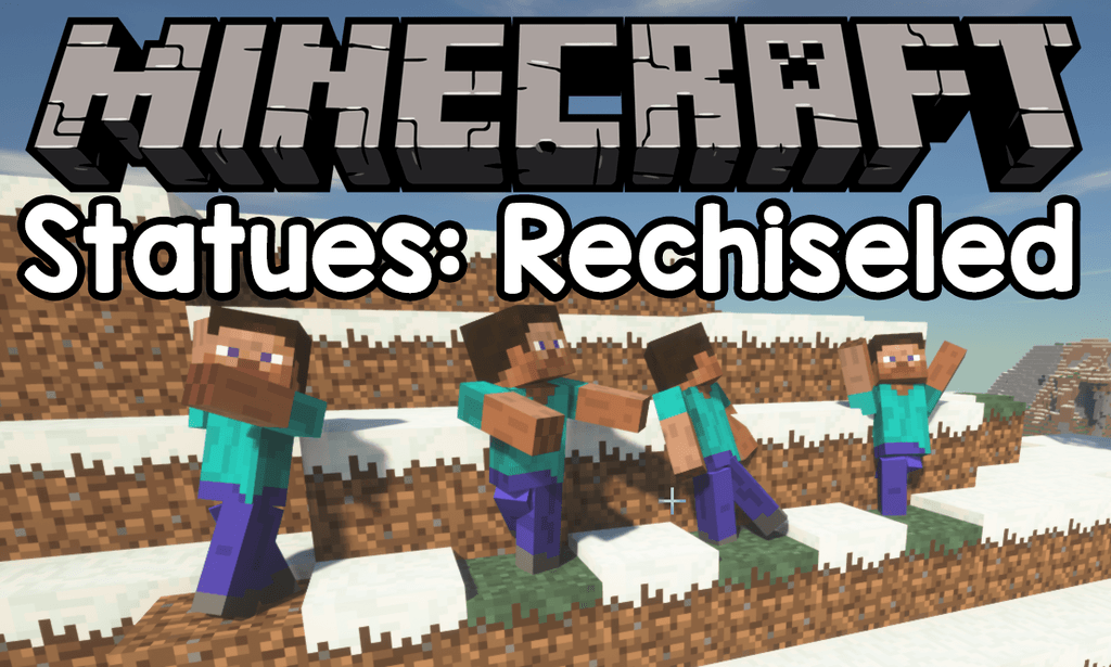 Statues Rechiseled mod for minecraft logo