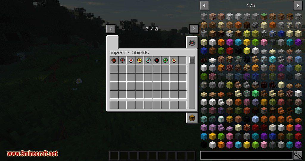 Superior Shields mod for minecraft 01