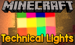 Technical Lights mod for minecraft logo