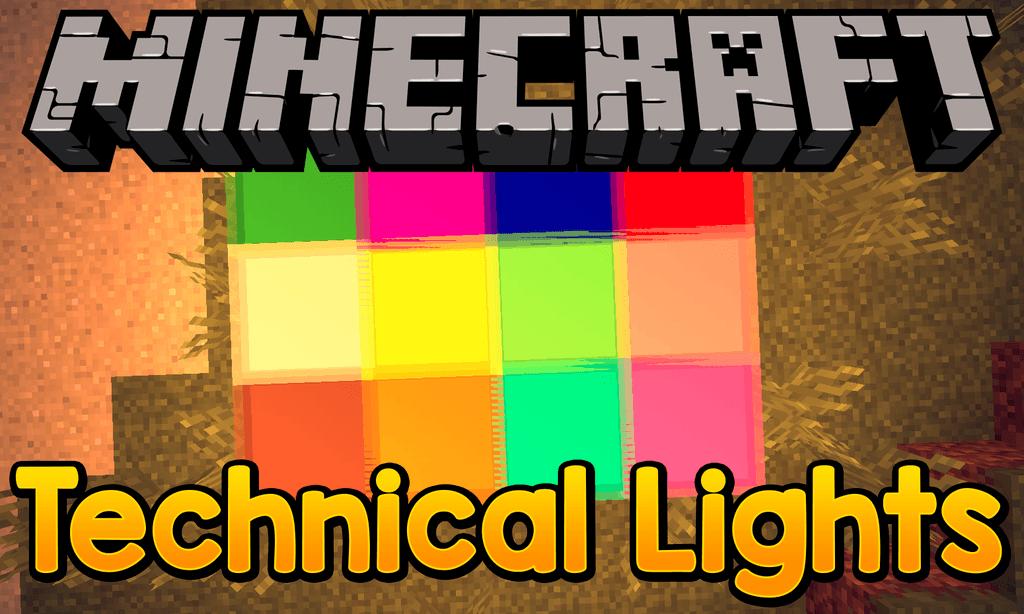 Technical Lights mod for minecraft logo