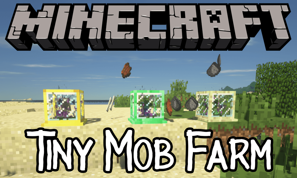 Tiny Mob Farm mod for minecraft logo