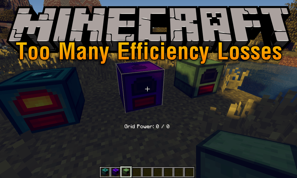 Too Many Efficiency Losses mod for minecraft logo