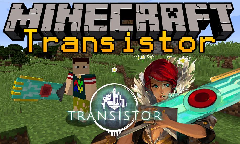 Transistor mod for minecraft logo