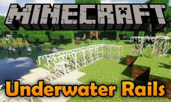 Underwater Rails mod for minecraft logo