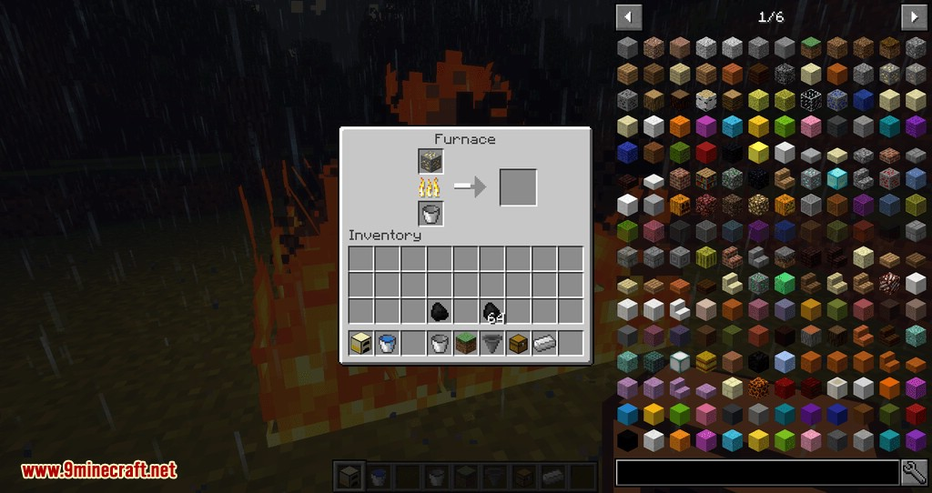 minecraft pc how to make a furnace