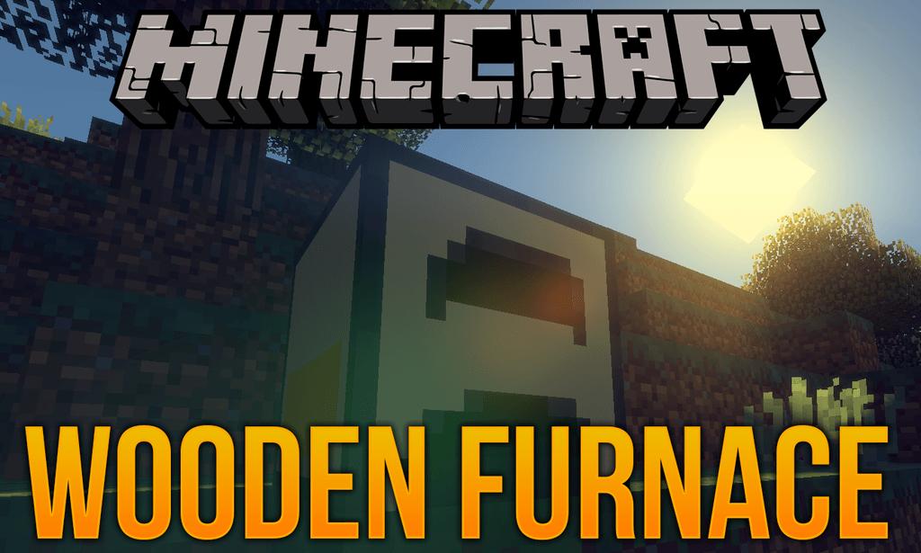 Wooden Furnace mod for minecraft logo