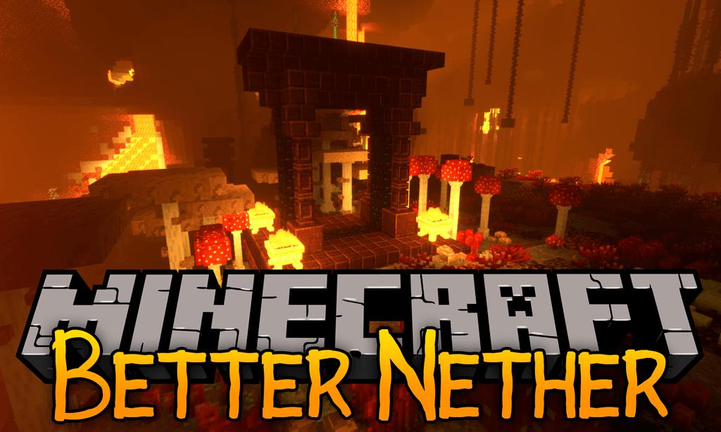 Better Nether mod for minecraft logo