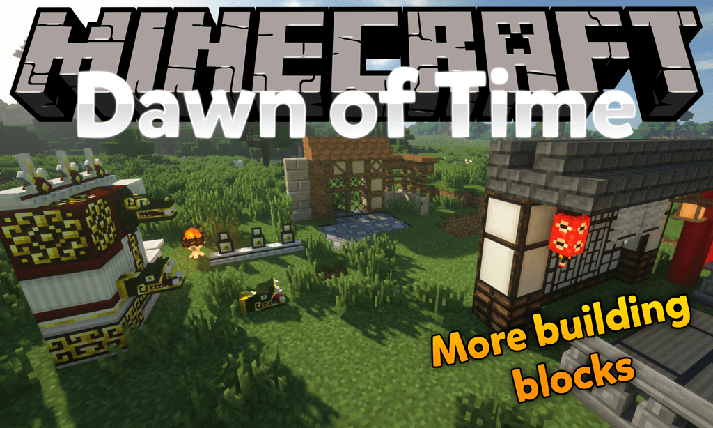 Dawn of Time mod for minecraft logo