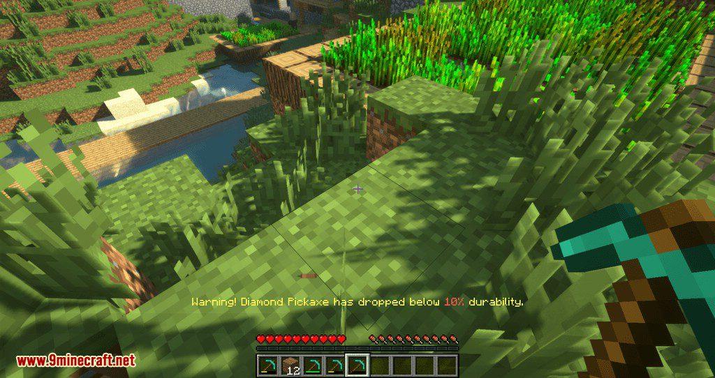 Durability Notifier mod for minecraft 01