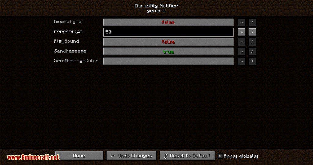 Durability Notifier mod for minecraft 05
