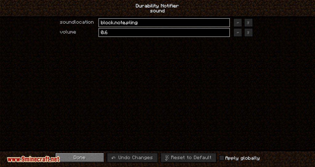 Durability Notifier mod for minecraft 07