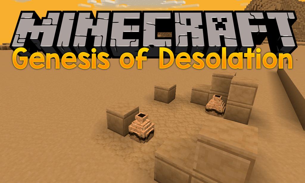 Genesis of Desolation mod for minecraft logo
