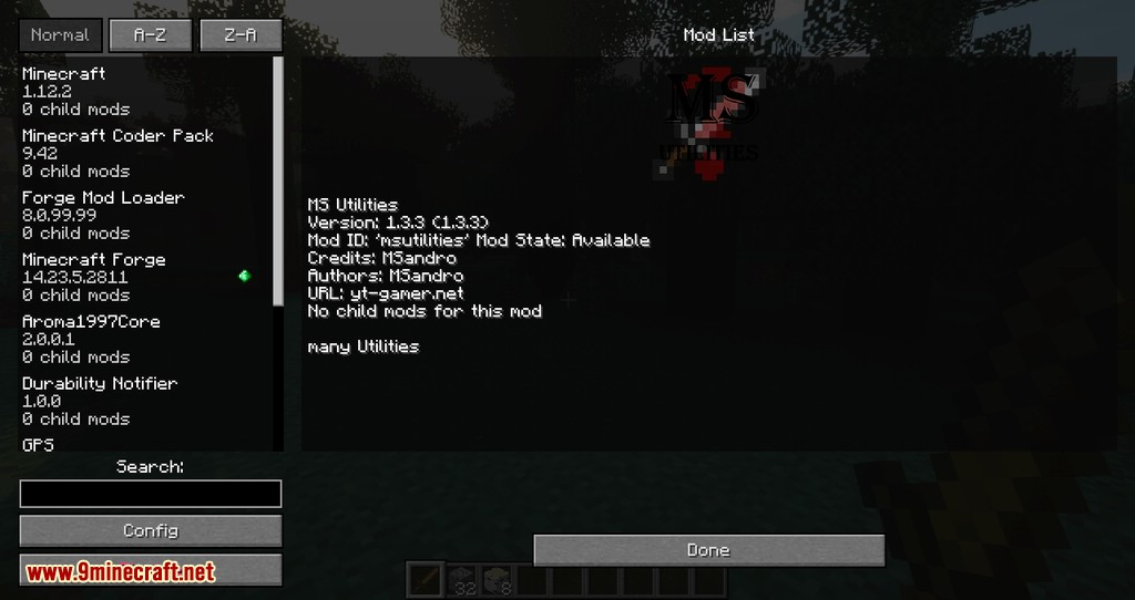 MS Utilities mod for minecraft 02