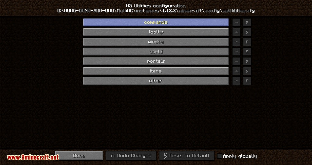 MS Utilities mod for minecraft 03