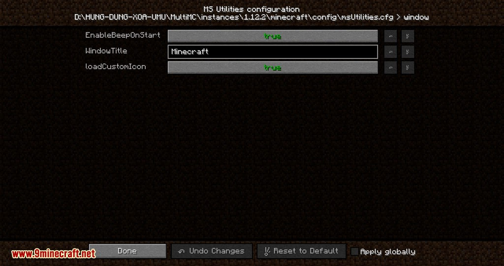 MS Utilities mod for minecraft 04