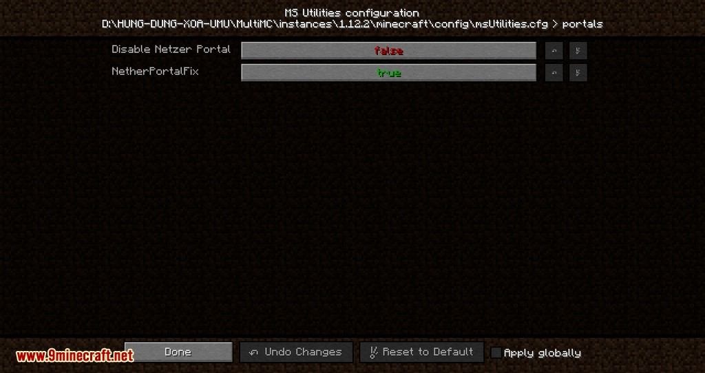 MS Utilities mod for minecraft 06