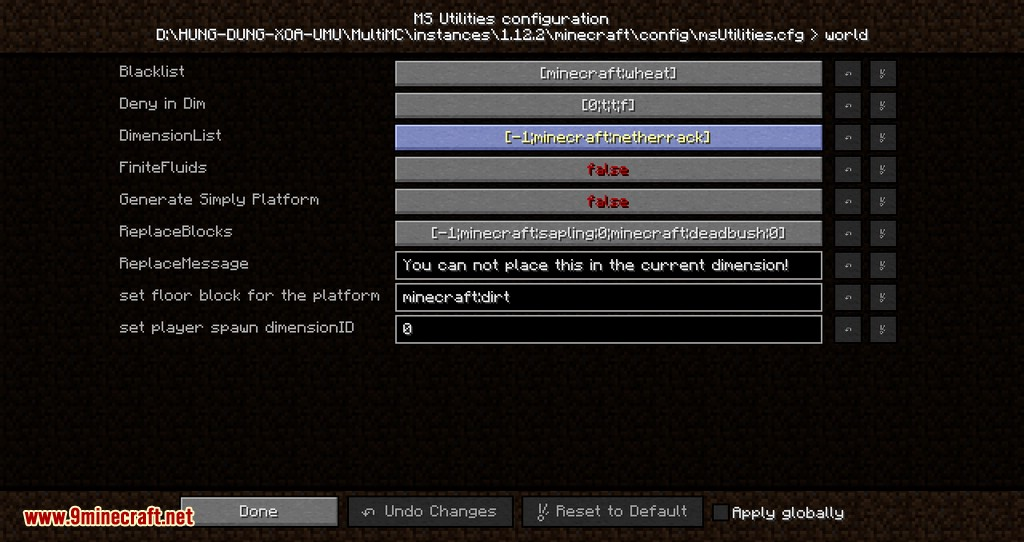 MS Utilities mod for minecraft 07