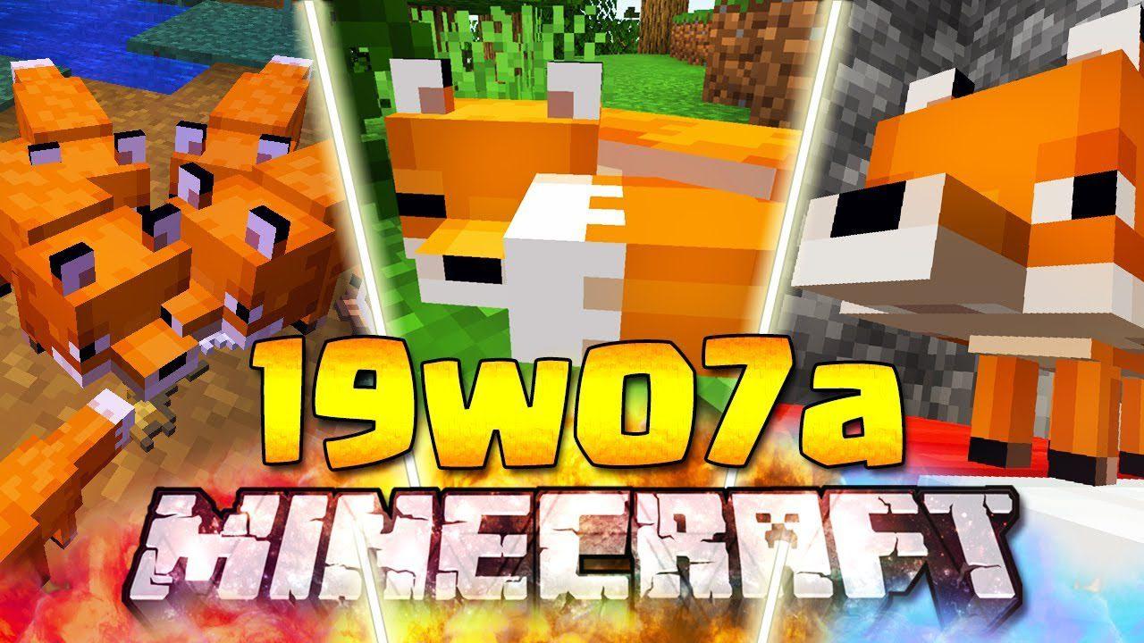 Minecraft 1.14 Snapshot 19w07a