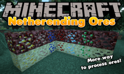 Netherending Ores mod for minecraft logo