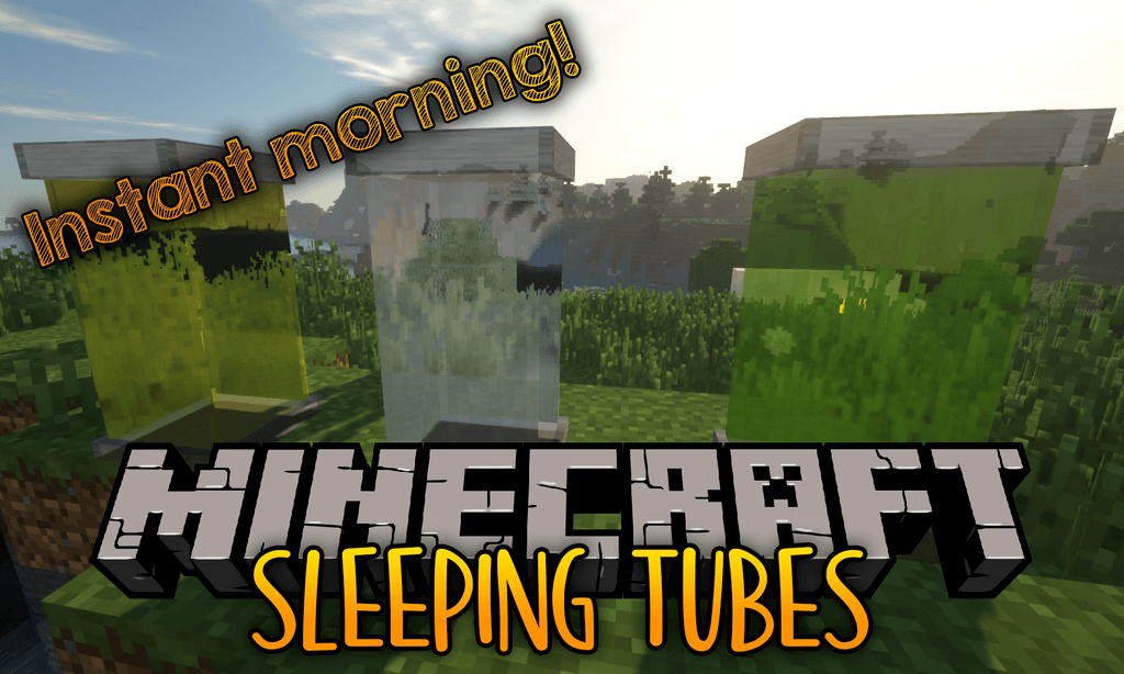 Sleeping Tubes mod for minecraft logo