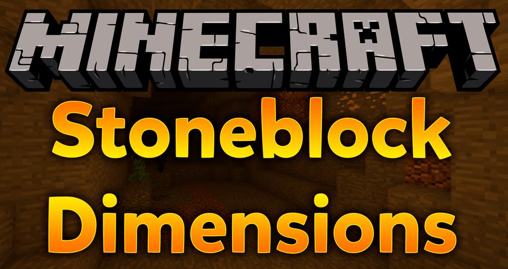 Stoneblock dimensions mod for minecraft logo