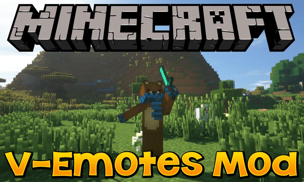 V-Emotes Mod for minecraft logo