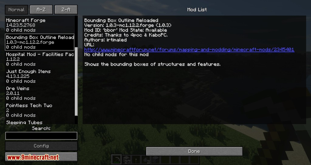 bounding box outline reloaded mod for minecraft 02