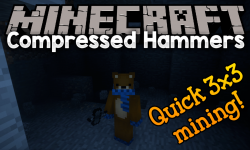 Compressed Hammers mod for minecraft logo