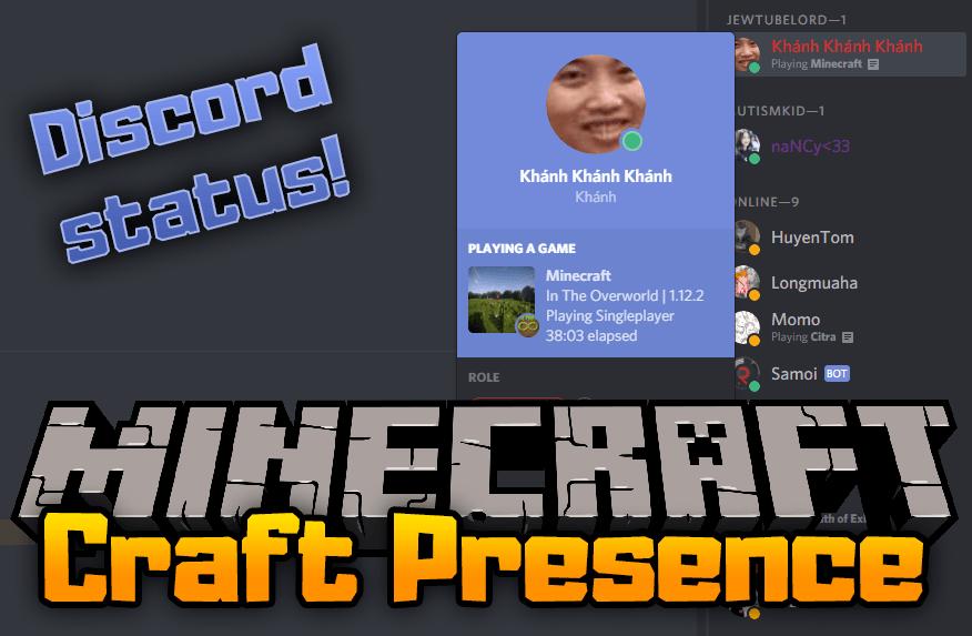 Craft Presence mod for minecraft logo