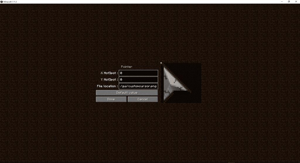 Cursor Mod 1 13 2/1 12 2 (Change Your In-game Cursor) - 9Minecraft Net