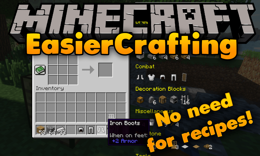 Easier Crafting mod for minecraft logo