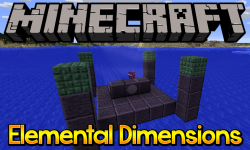 Elemental Dimensions mod for minecraft logo