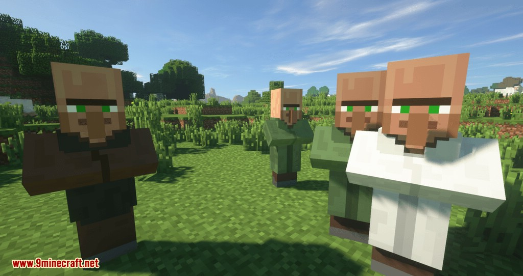 Following Villagers Mod 1 13 2/1 12 2 (Lure Villagers With Emerald
