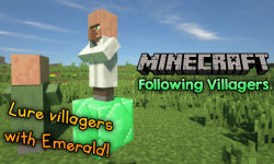 Following Villagers mod for minecraft logo