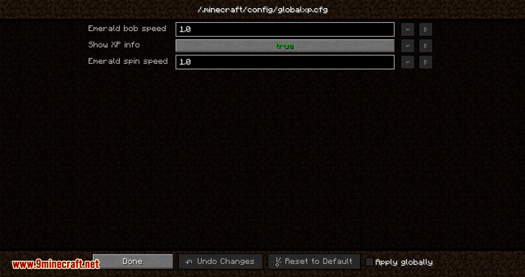 Global XP mod for minecraft 03