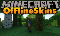 Offline Skins mod for minecraft logo