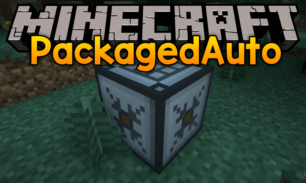 PackagedAuto mod for minecraft logo