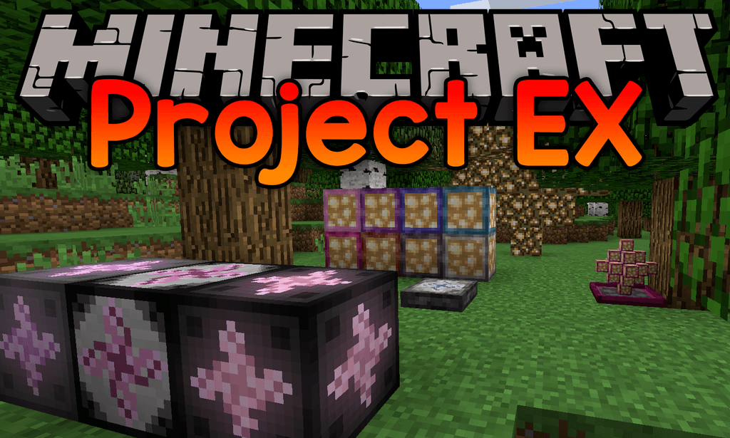 Project EX mod for minecraft logo