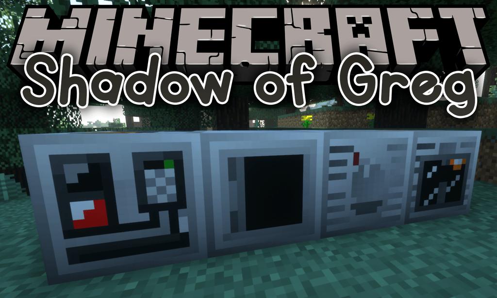 Shadow of Greg mod for minecraft logo