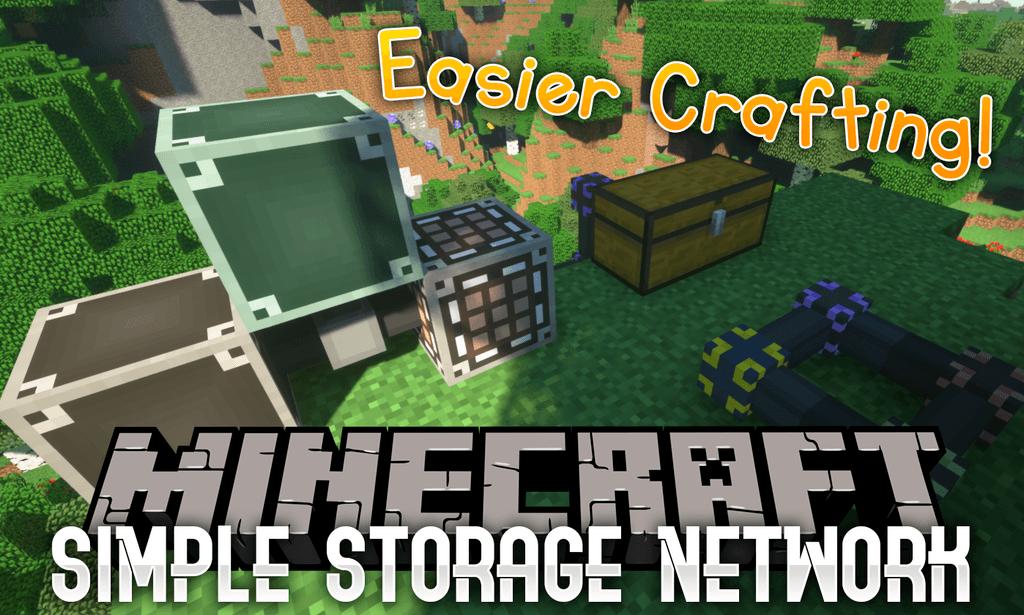 Simple Storage Network mod for minecraft logo