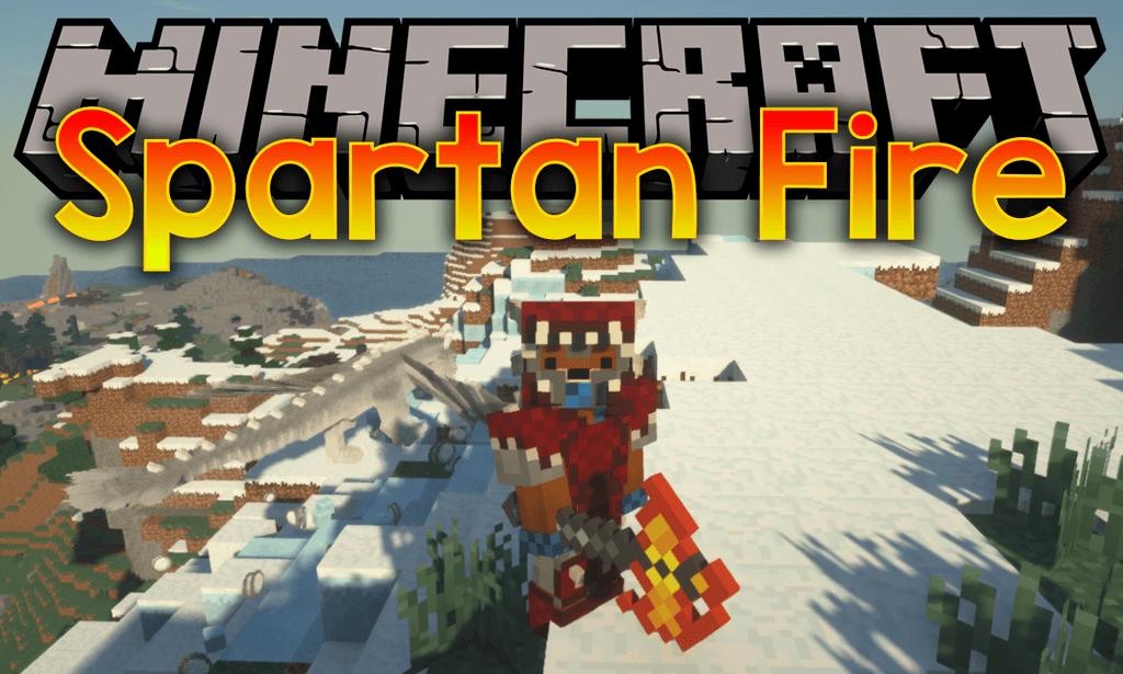 Spartan Fire mod for minecraft logo