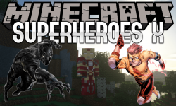 Superheroes X mod for minecraft logo