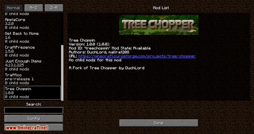 Tree Choppin mod for minecraft 01